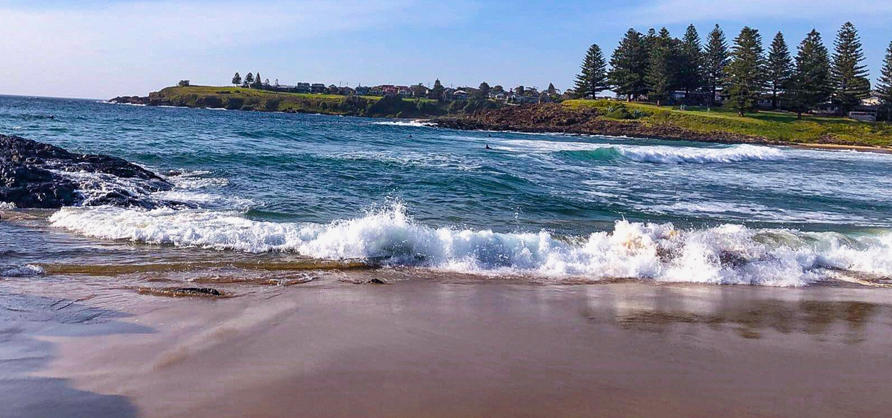 Surf beach is just a short stroll from Oceanview Apartment Kiama
